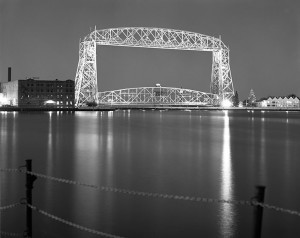 Duluth Aerial Lift Bridge in the Twilight